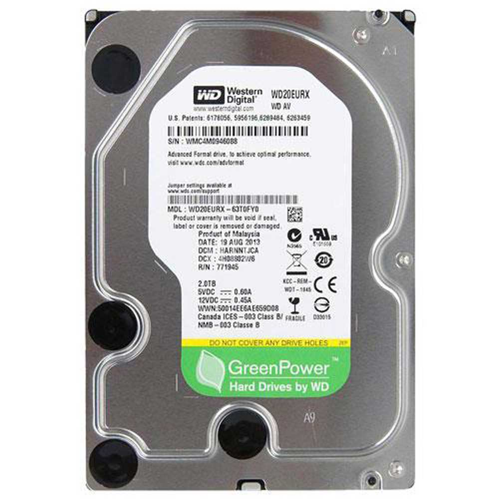 هارد اینترنال Western Digital Green WD20EURX 2TB