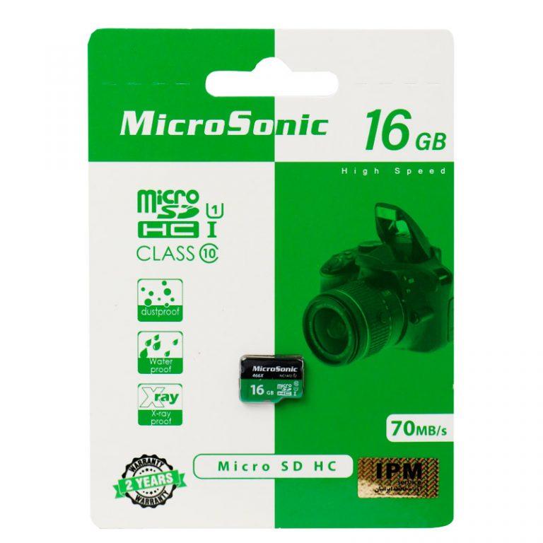 رم میکرو ۱۶ گیگ میکروسونیک MicroSonic U1 C10 70MB/s